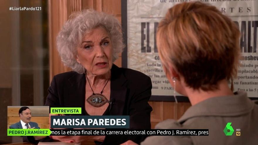 """Marisa Paredes pone en su sitio a Miguel Bose y opina de Ayuso: """"Es impresentable"""""""