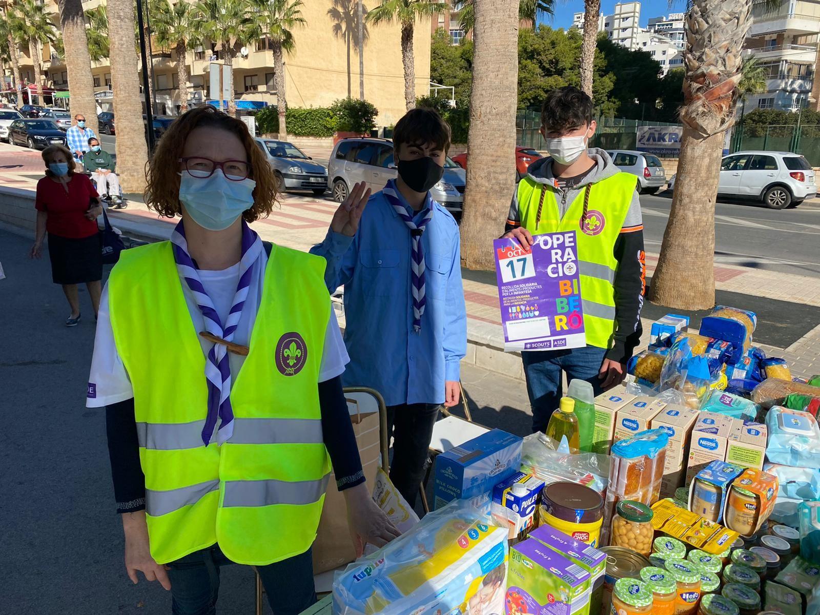 Los Scouts de El Campello recogen más de 1.500 kilos de alimentos infantiles para Cáritas