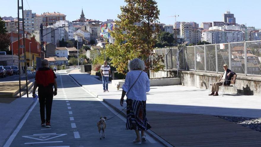 La Vía Verde de Vigo llega a Vialia con una pasarela gigante