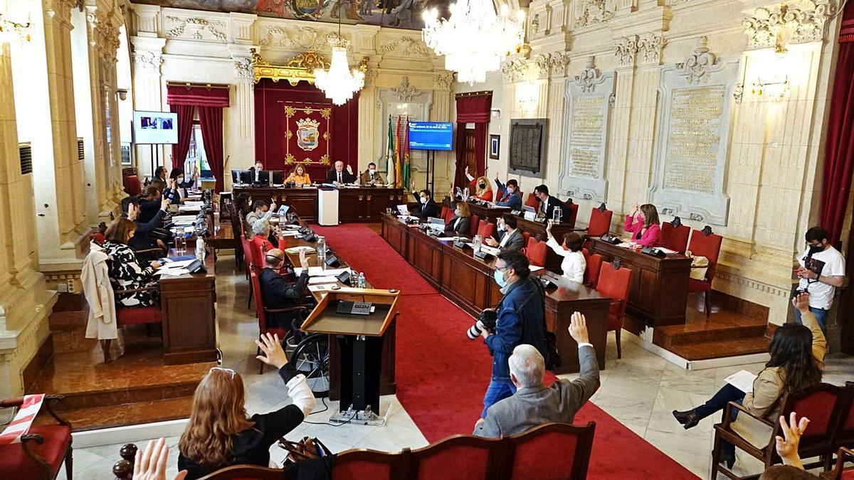 Imagen del Pleno celebrado ayer.