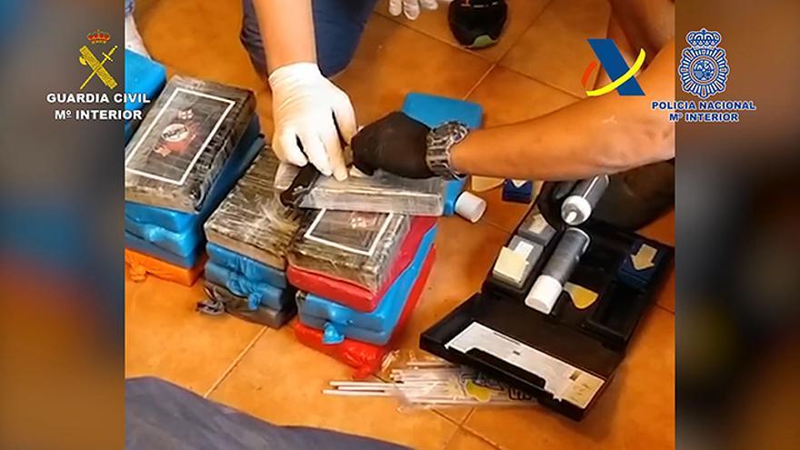Seis detenidos y 268 kilos de cocaína incautados en el mayor alijo en Lanzarote