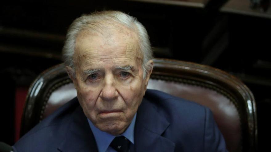 Ingresado el expresidente argentino Carlos Menem