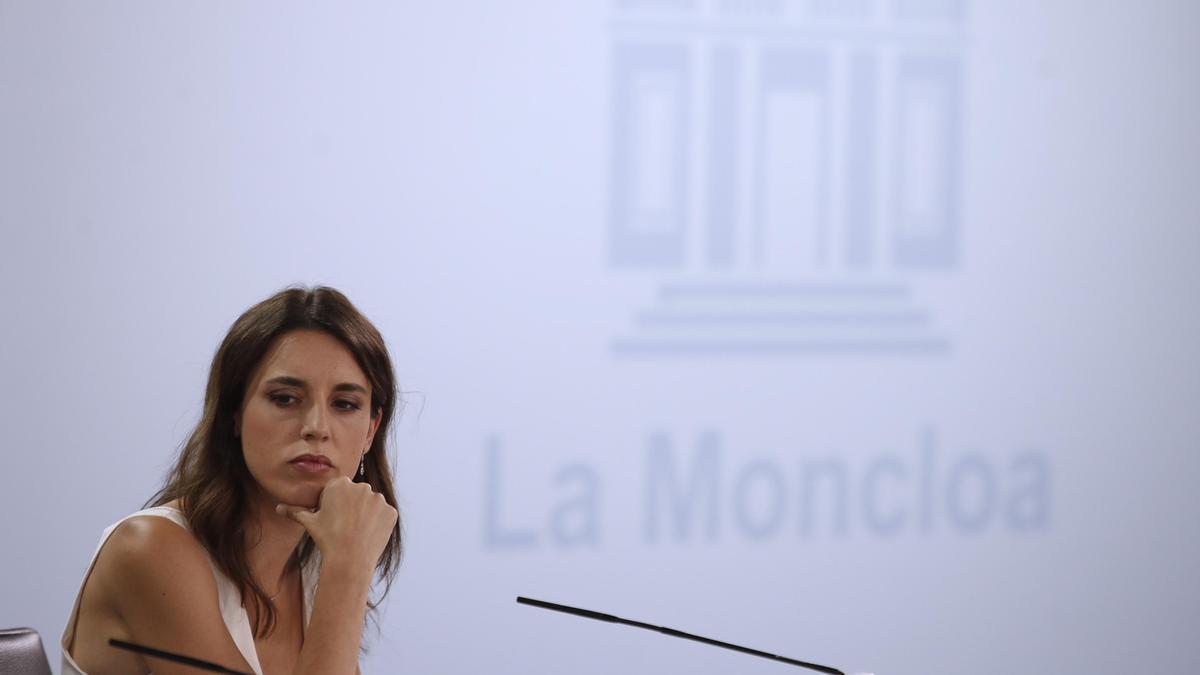 La ministra de Igualdad, Irene Montero.