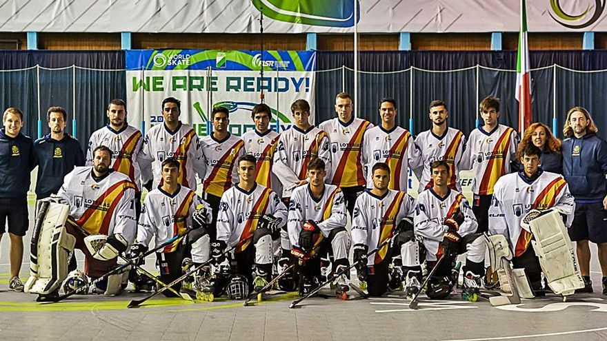 Seis mallorquines en la histórica tercera plaza de España en el Mundial de hockey línea