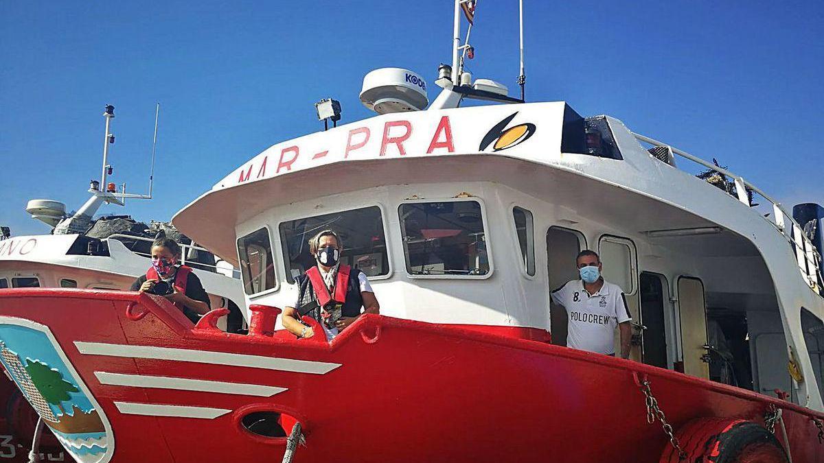"""El """"Mar-Pra"""" ejerce de escaparate formativo y turístico del cultivo del mejillón."""