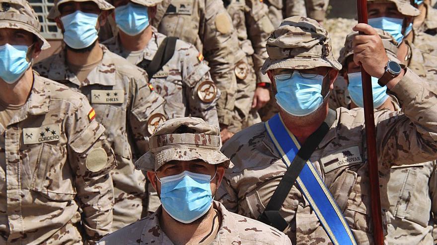 Soldados canarios en Irak celebran  el día de la Patrona de la Aviación