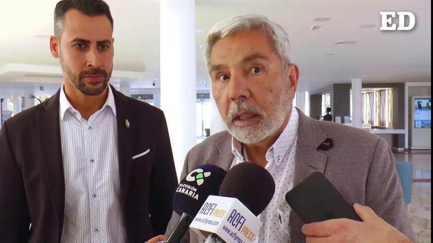 Rodríguez Fraga muestra la preocupación de los municipios turísticos de Canarias