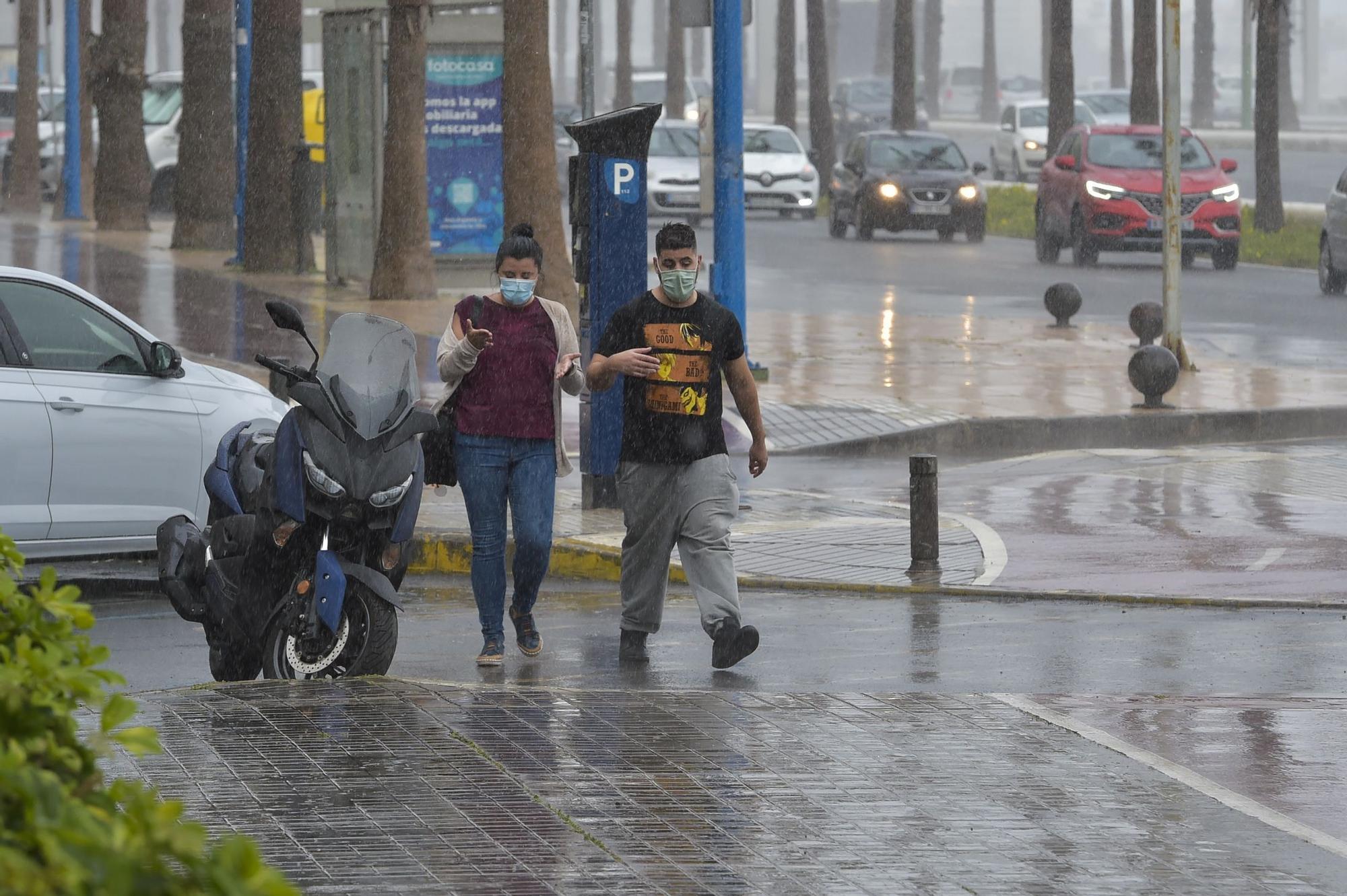 Lluvia en Las Palmas de Gran Canaria (5/03/2021)