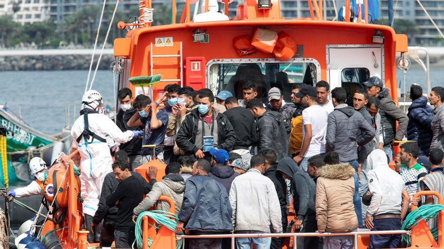 257 personas llegan este domingo a Canarias a bordo de siete pateras y un cayuco