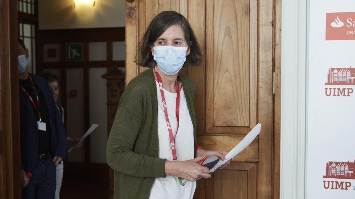 - La hasta ahora rectora de la Universidad Internacional Menéndez Pelayo, María Luz Morán.