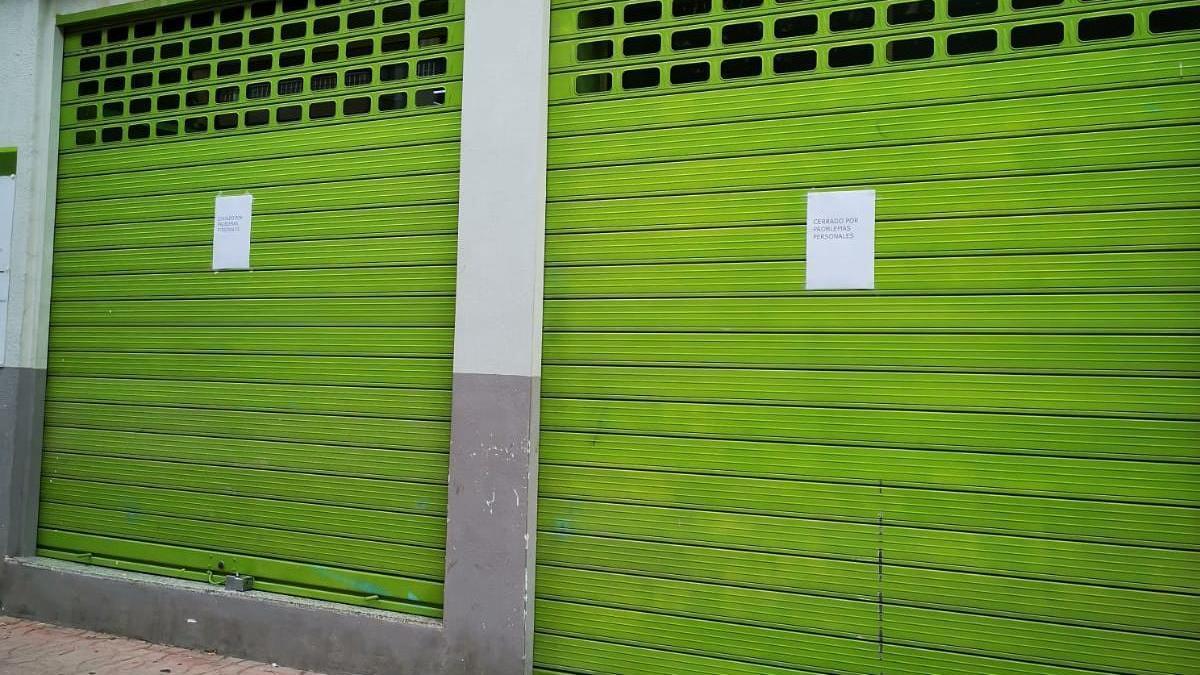 El supermercado que permanece cerrado de forma temporal