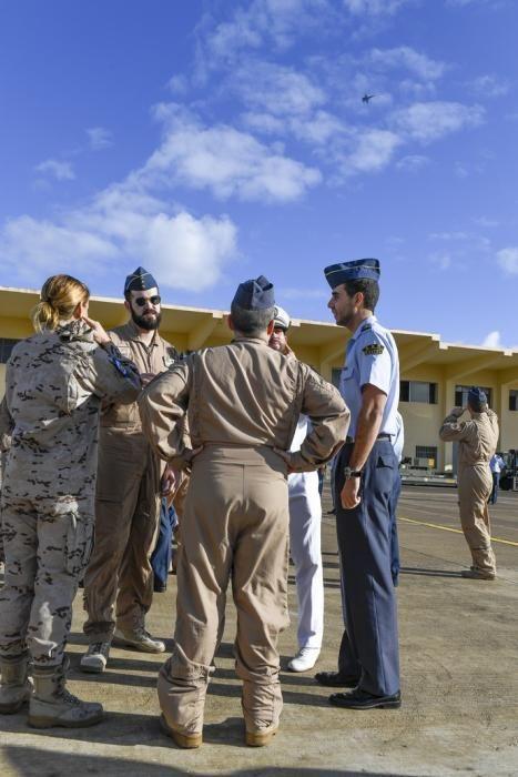 CANARIAS Y ECONOMIA 18-01-2019 BASE AEREA DE GANDO. TELDE-INGENIO. Ejército del Aire. Bienvenida del escuadrón del 10ª contingente del destacamento rappa en Sigonella.  FOTOS: JUAN CASTRO
