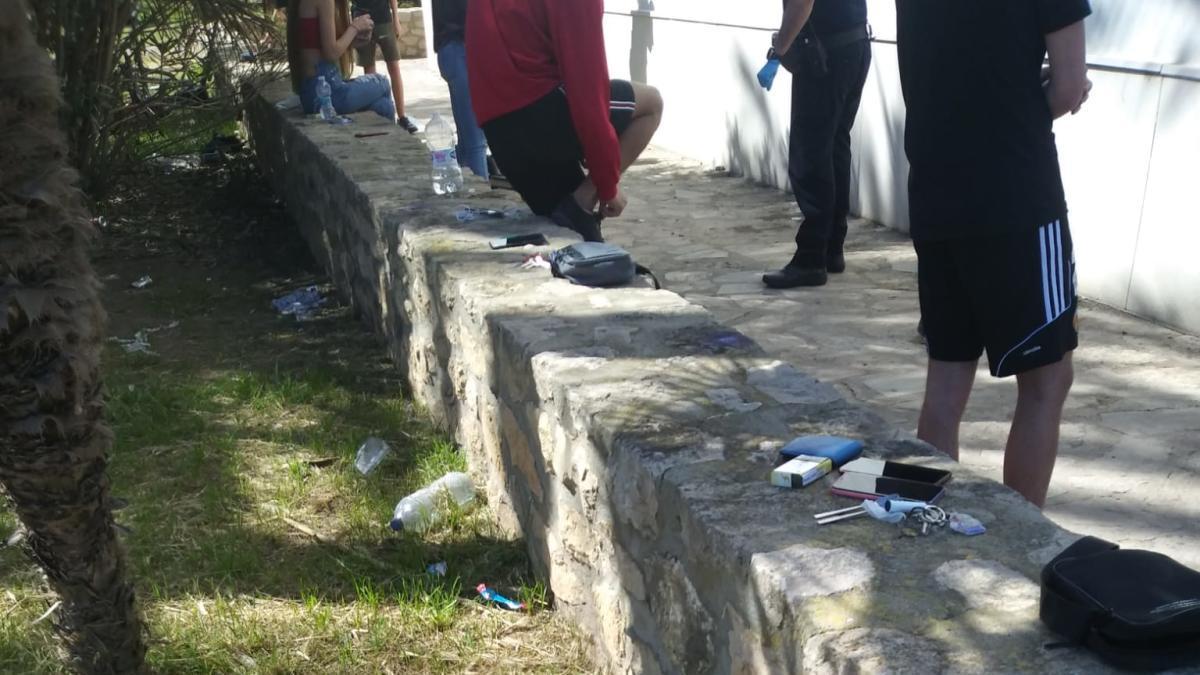 Residuos que quedaron en la zona.