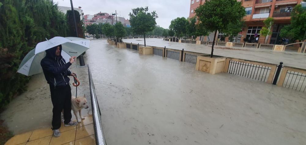 La ciudad de Orihuela, inundad
