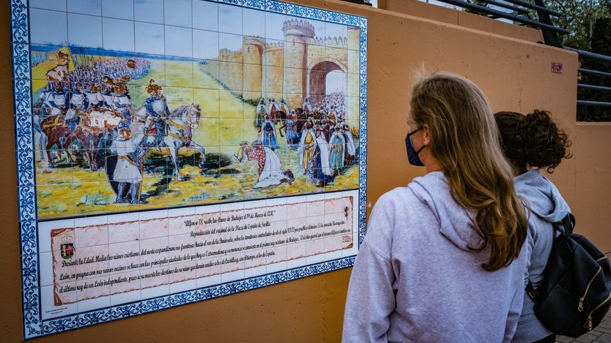 Condenan los daños al mural de Alfonso IX