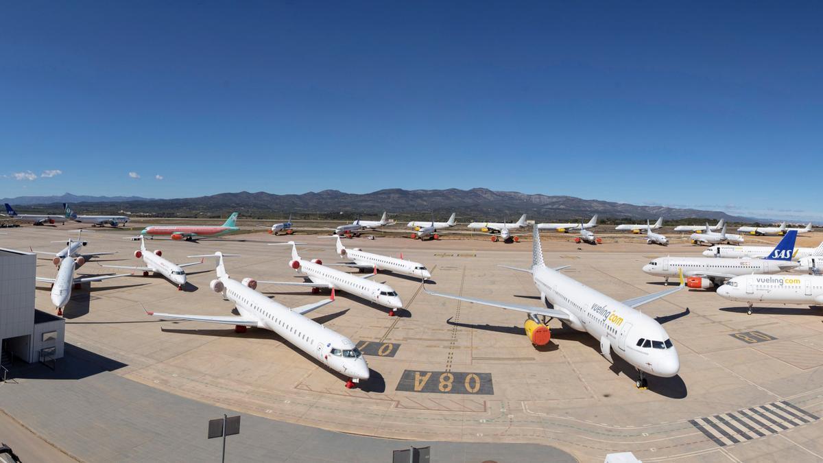 Vista panorámica del aeropuerto de Castellón