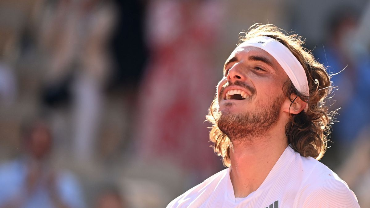 El tenistas griego de 22 años Stefanos Tsitsipas.