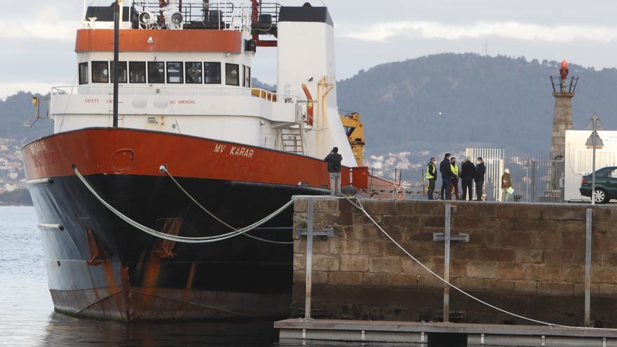 """El narcobuque """"Karar"""" sigue en Vigo a la espera de que declaren los dueños"""