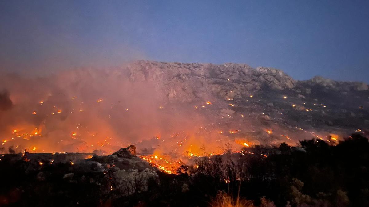 Waldbrand am Coll de Sa Gramola in Andratx.