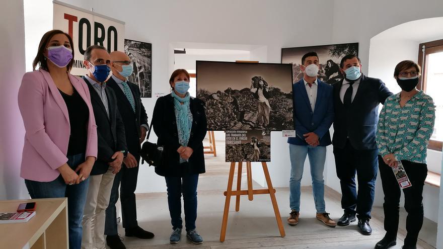Una exposición de fotografías recrea antiguas labores en el majuelo de la DO Toro