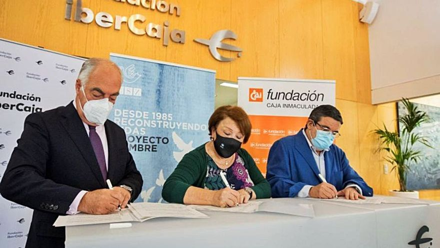 Fundación Ibercaja y Fundación CAI renuevan su apoyo a la Fundación CSZ