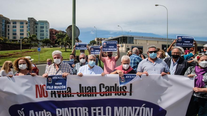 La plataforma Felo Monzón reclama el cambio de nombre de la avenida Juan Carlos I