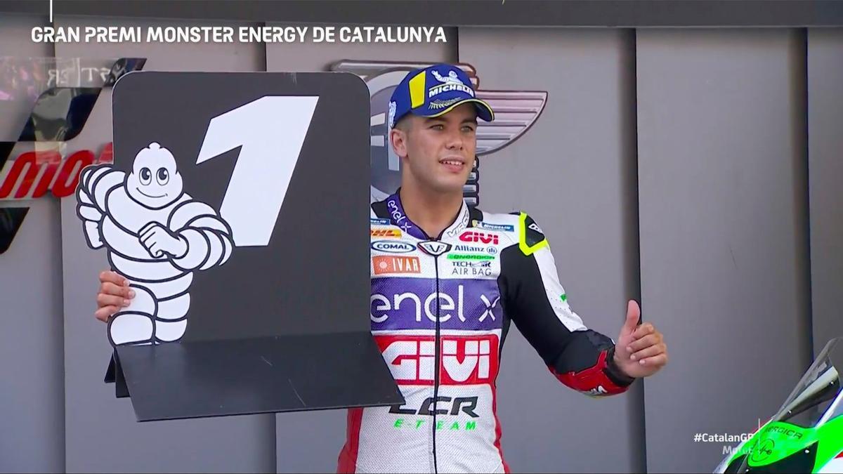 Miquel Pons logra su primera victorial en el Mundial de motociclismo.