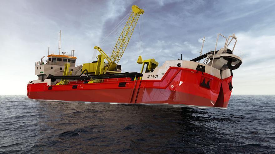 Así será la draga de última generación que construirá Nodosa Shipyard
