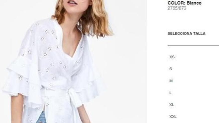Zara incorpora talles grans al seu catàleg després de la petició d'una clienta
