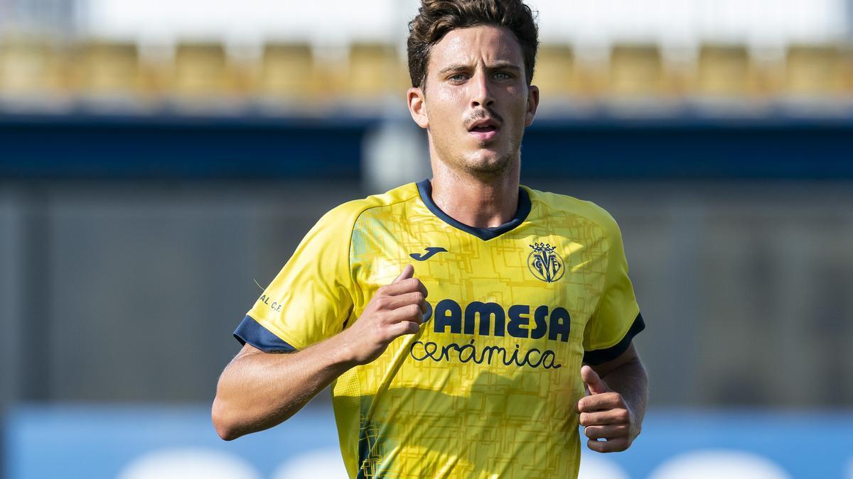 Pau Torres en un entrenamiento del Villarreal