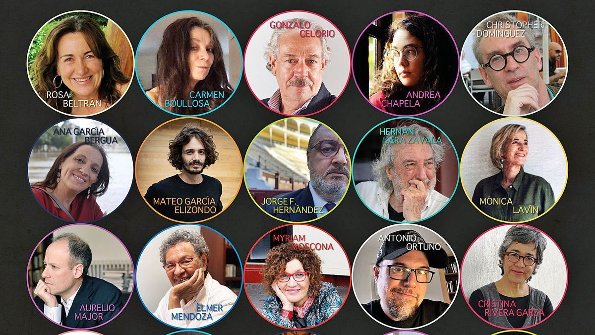 Authors participating in the IV Hispano-American Writers Festival.        LP / DLP