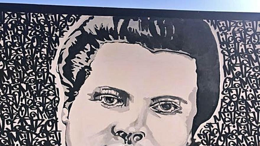Borrada la pintada sexista en el mural de Margalida 'Llogat'