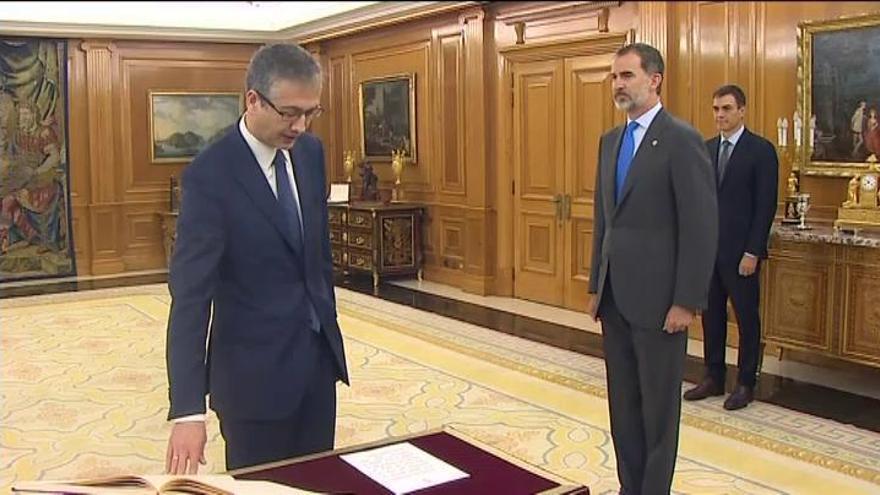 Hernández de Cos promete el cargo de gobernador del Banco de España ante el Rey