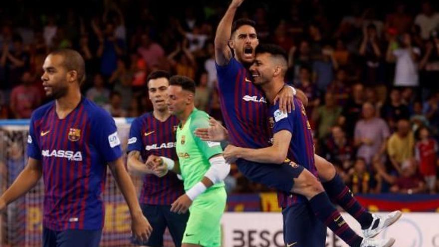 El Barça alza el título de Liga seis años después  ante ElPozo (3-2)