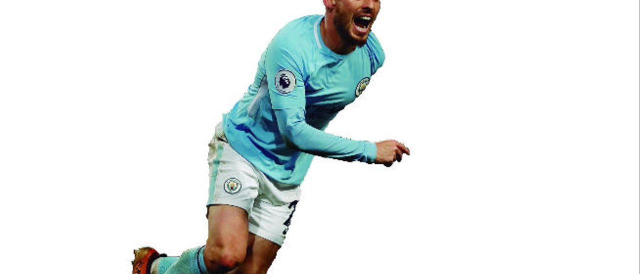 David Silva celebra el gol anotado al West Ham la pasada jornada.
