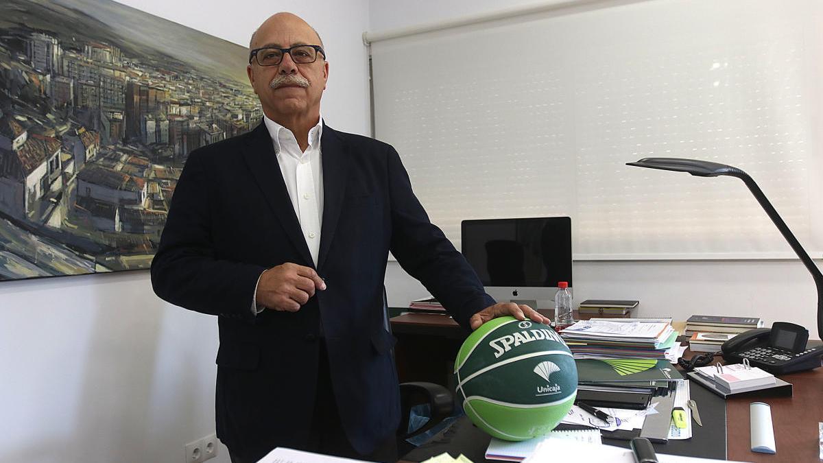 Eduardo García, presidente del Unicaja.