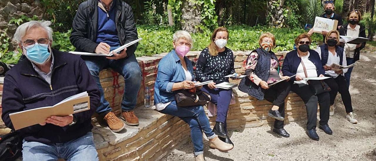 Una de las salidas que el colectivo ha realizado durante la pandemia por coronavirus.  | INFORMACIÓN