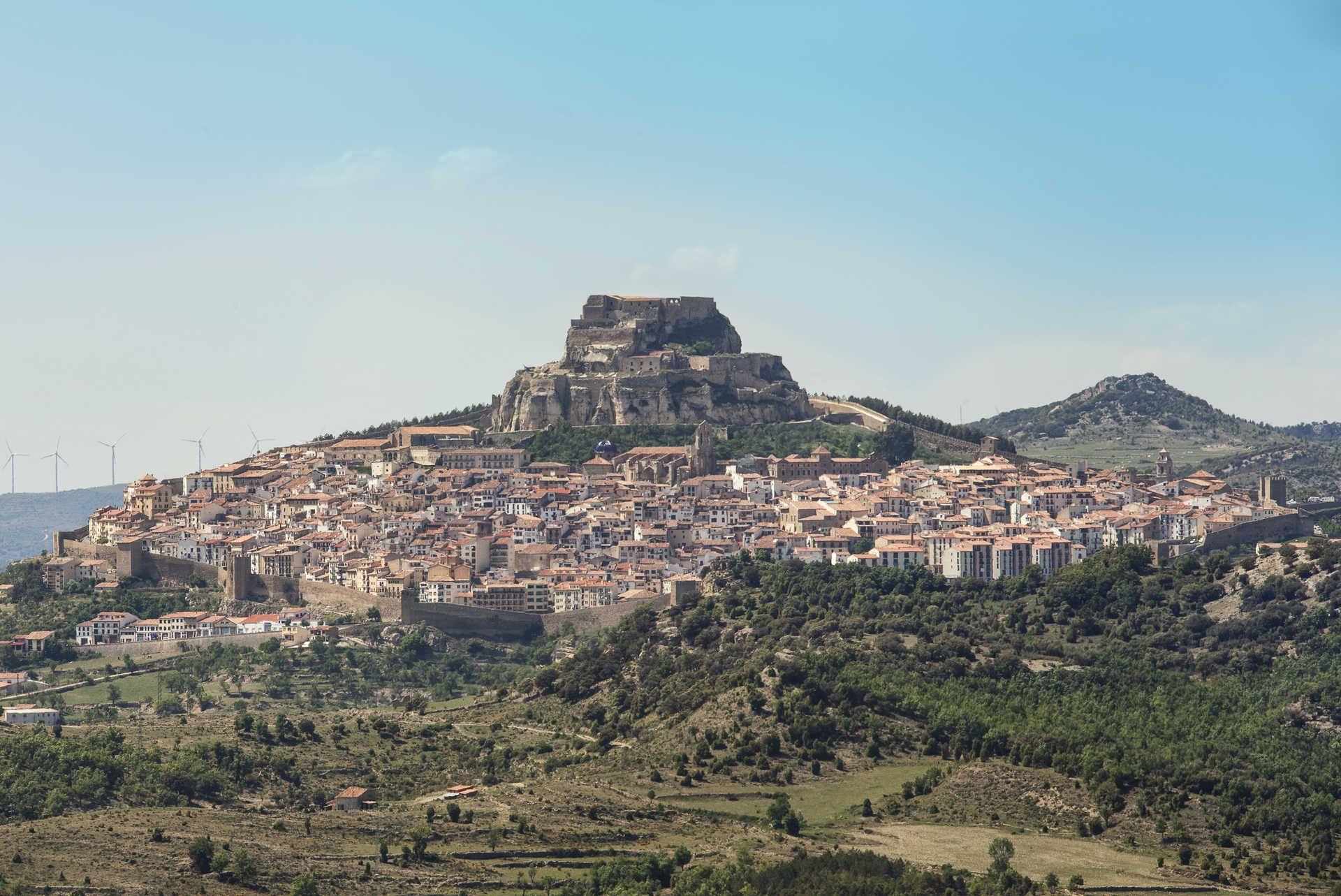 Morella. Panorámica del municipio, capital de la comarca Els Portd