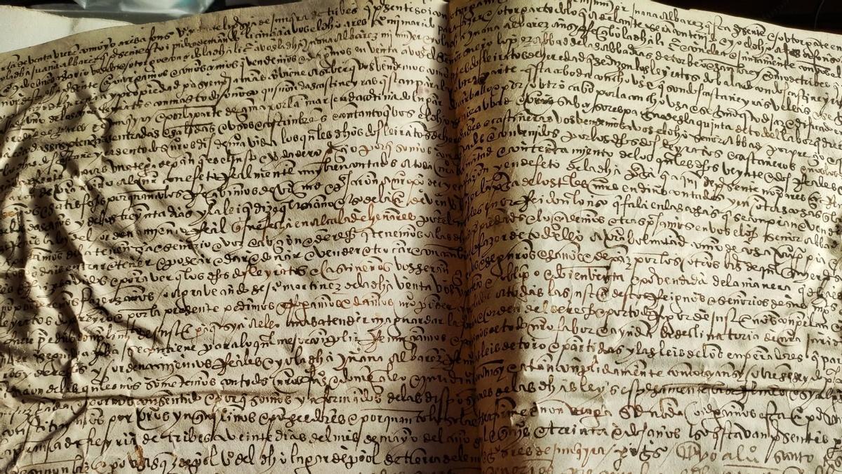 Pergamiño do século XVI do Arquivo particular de Juan Pérez.