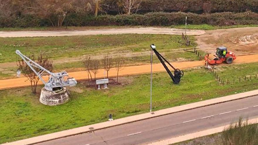 Arranca el arreglo de la vía verde a su paso por Benavente
