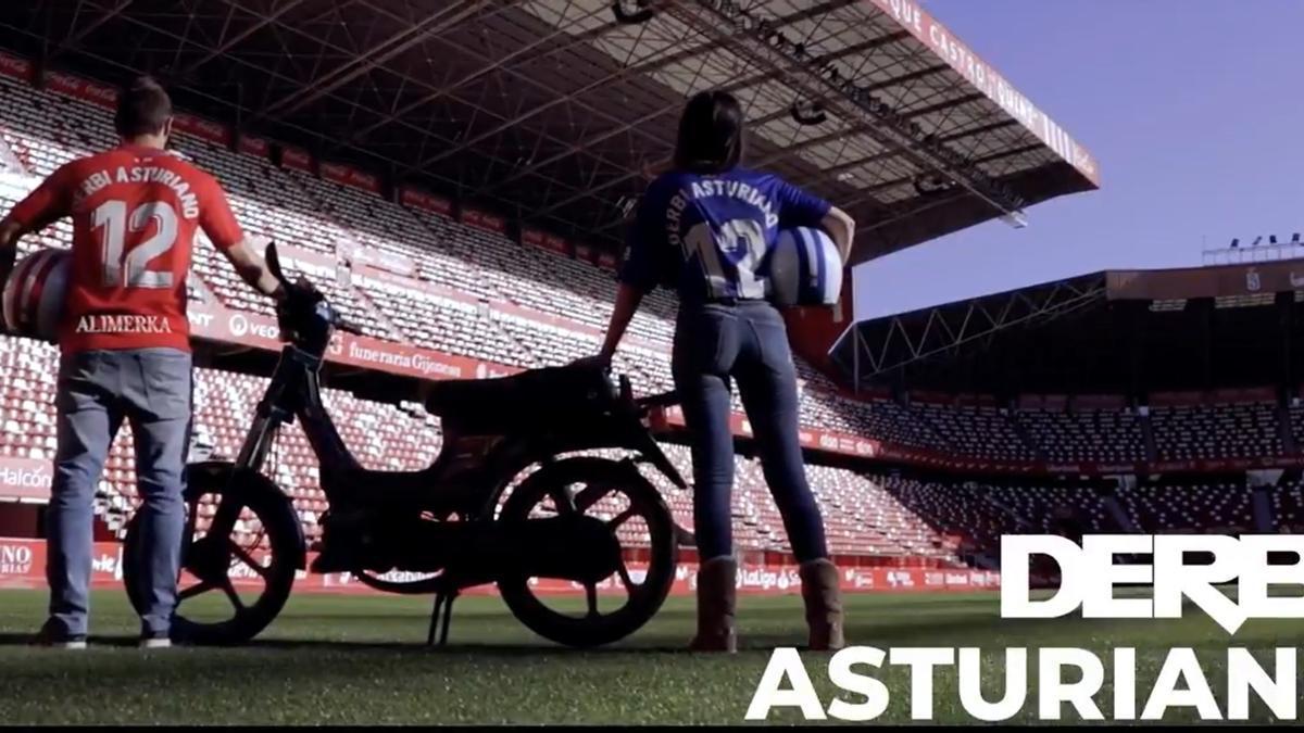 Un fotograma del vídeo promocional del Sporting