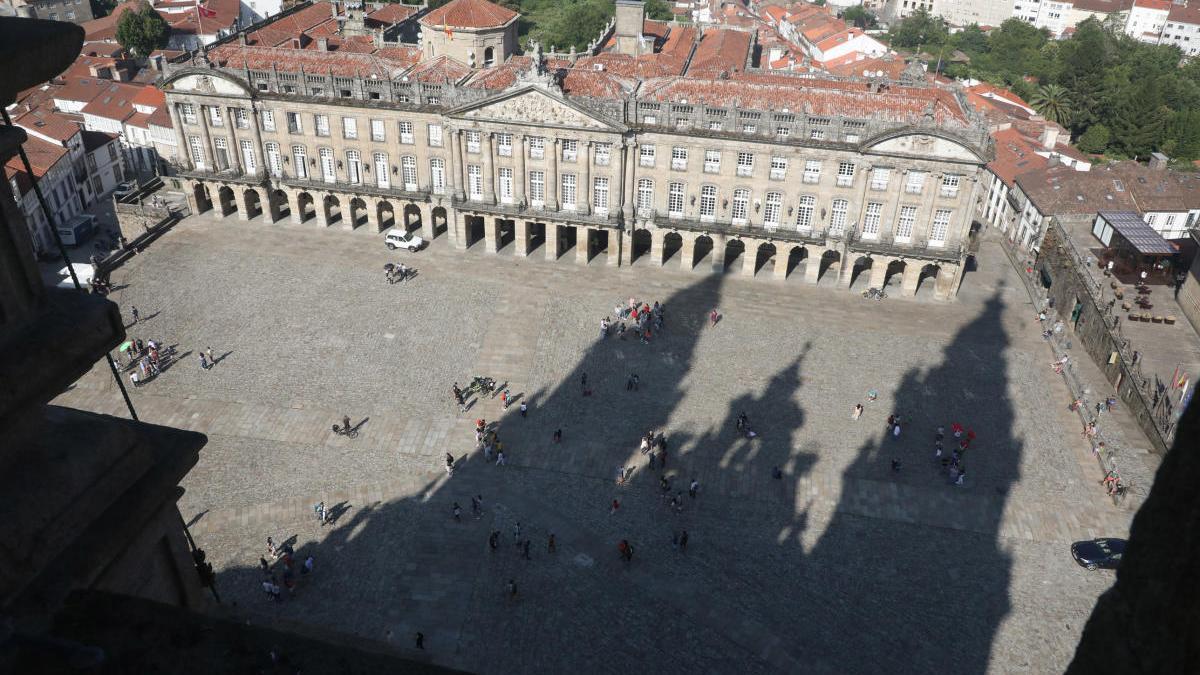 Vista de la Praza do Obradoiro de Santiago de Compostela. // Xoán Álvarez