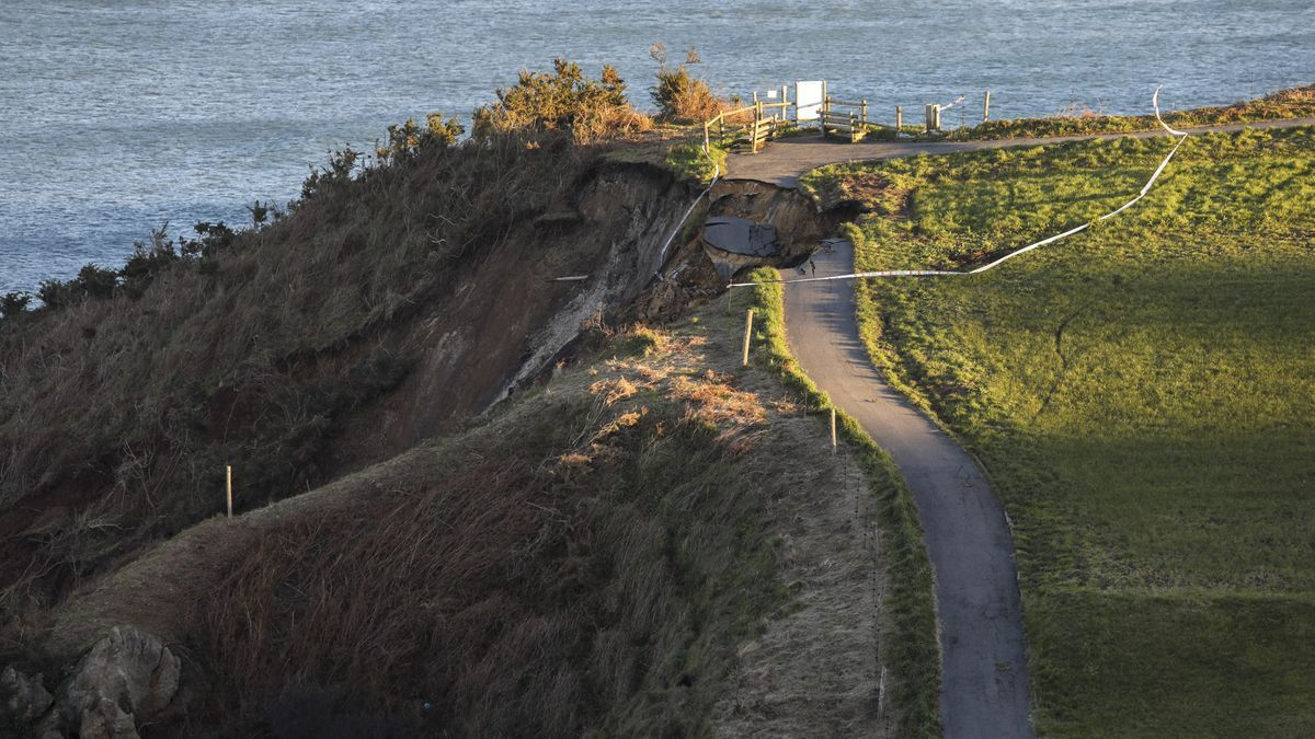 Argayo en la Senda Norte próximo a El Puerto.