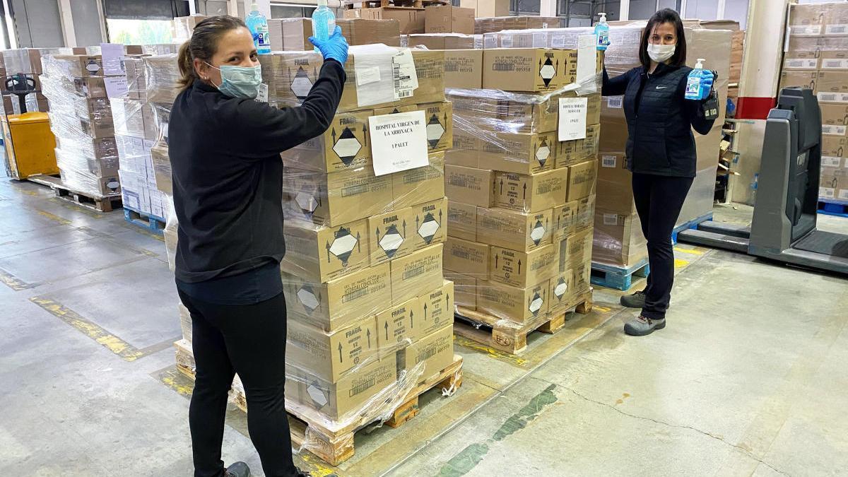 Marvimundo dona 3.000 unidades de gel higienizante a hospitales de Murcia