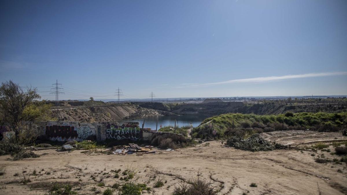 Una imagen de las lagunas de Ambroz, en el distrito madrileño de San Blas-Canillejas.