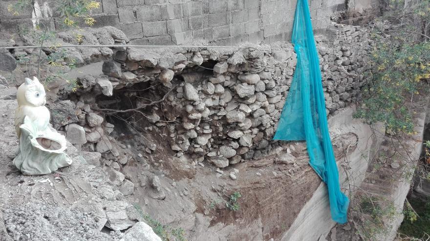 Derrumbes en el barrio teldense de La Higuera Canaria