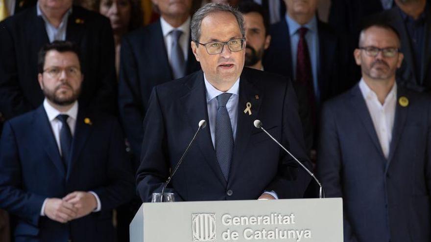 """Torra pide una reunión urgente con el Rey y Sánchez sobre la """"crisis"""" que abre la sentencia"""