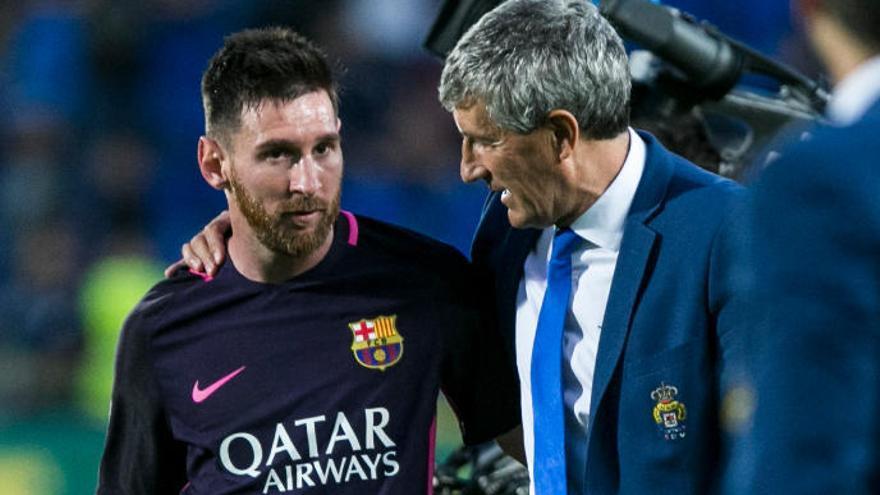 Setién toma el mando del Barça de Messi