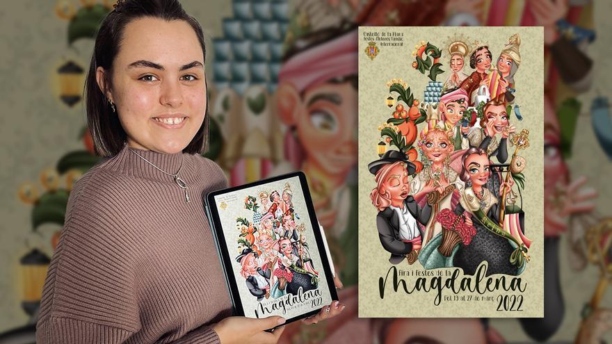 """La autora del cartel de la Magdalena 2022 dice que es un """"homenaje a los actos de las fiestas"""""""