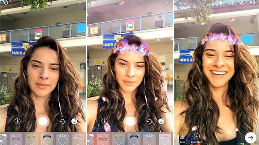 Instagram còpia Snapchat amb els nous filtres facials